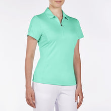 NI8210100 Nivo Women's Natasha Atlantis Green Essentials Polo Shirt Product Image Side