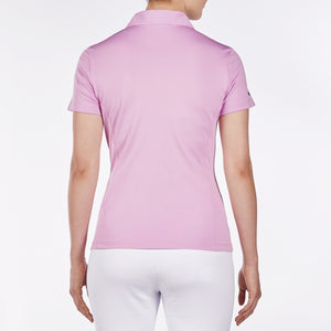 NI8210100 Nivo Women's Natasha Wild Orchid Essentials Polo Shirt Product Image Back