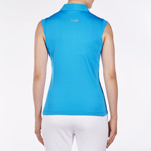 NI8210101 Nivo Women's Nelly Malibu Blue Essentials Sleeveless Polo Shirt Product Image Back