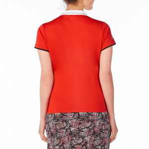 Nivo Women's Rumer Red Polo Shirt Model Image Back NI8210182