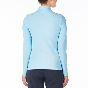 Nivo Women's Carlee Mock Mid-Layer Shirt Ice Blue Product Image Back NI8210193_401
