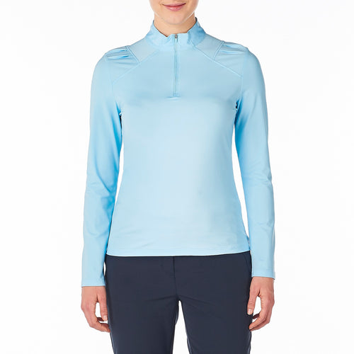 Nivo Women's Carlee Mock Mid-Layer Shirt Ice Blue Product Image Front NI8210193_401