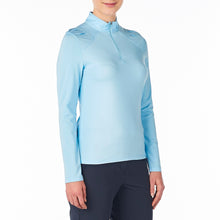 Nivo Women's Carlee Mock Mid-Layer Shirt Ice Blue Product Image Side NI8210193_401