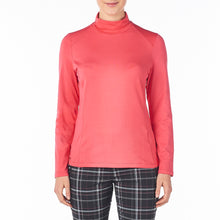 Nivo Women's Celeste Mock Roll-Neck Top Cerise Product Image Front NI8210194_604