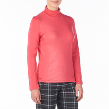 Nivo Women's Celeste Mock Roll-Neck Top Cerise Product Image Side NI8210194_604