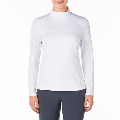 Nivo Women's Celeste Mock Roll-Neck Top White Product Image Front NI8210194_100