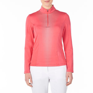 Nivo Women's Caylee Mock Mid-Layer Shirt Cerise Product Image Front NI8210195_604