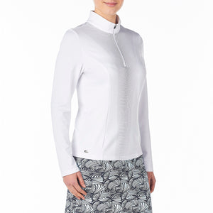 Nivo Women's Caylee Mock Mid-Layer Shirt White Product Image Side NI8210195_100