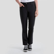NI8210400 Nivo Women's Mabel Black Ankle Grazer Trousers Product Image Front