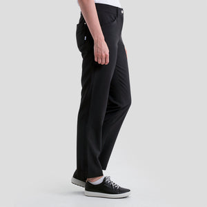 NI8210400 Nivo Women's Mabel Black Ankle Grazer Trousers Product Image Side