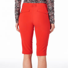 NI8210410 Nivo Ladies Madison Long Shorts Red Product Image Back