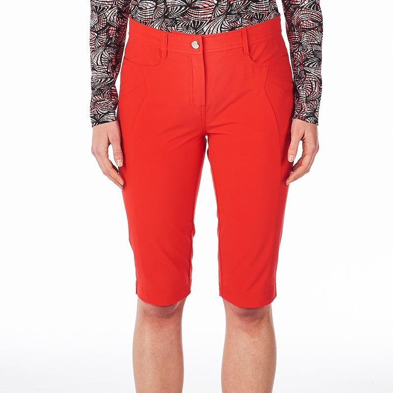 NI8210410 Nivo Ladies Madison Long Shorts Red Product Image Front