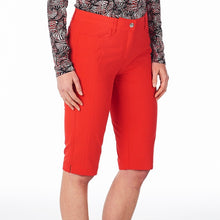 NI8210410 Nivo Ladies Madison Long Shorts Red Product Image Side