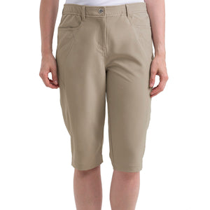 Nivo Women's Madison Shell Beige Long SHorts Model Front NI8210410