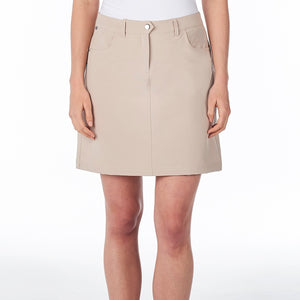 NI8210610 Mivo Marika Ladies Cement Golf Skort Product Image Front