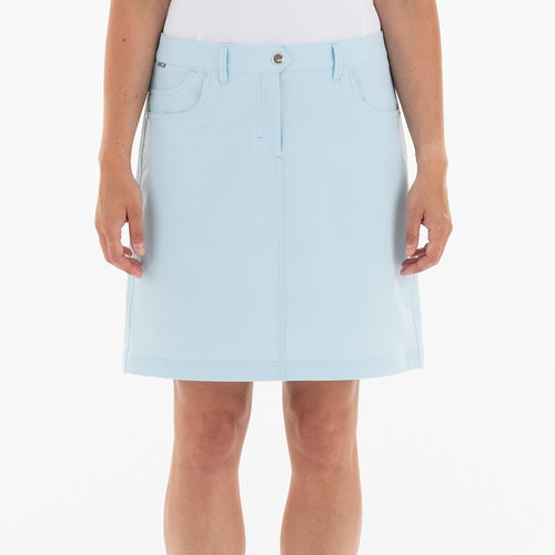 NI8210610 Mivo Marika Ladies Ice Blue Golf Skort Product Image Front