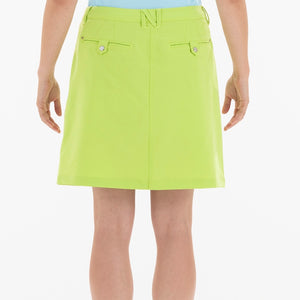 NI8210610 Mivo Marika Ladies Key Lime Golf Skort Product Image Back