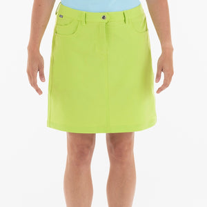 NI8210610 Mivo Marika Ladies Key Lime Golf Skort Product Image Front