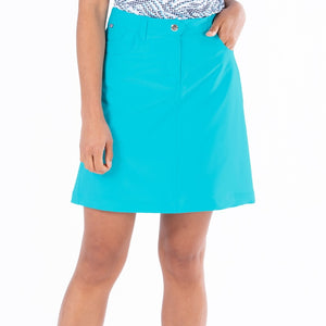 NI8210610 Nivo Marika Aqua Ladies 4-way Stretch Skort Product Image Front