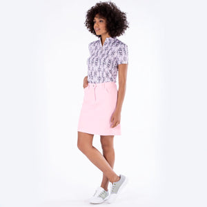 NI8210610 Nivo Marika Quiet Pink Ladies 4-way Stretch Skort Model Image Front