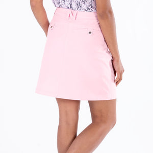 NI8210610 Nivo Marika Quiet Pink Ladies 4-way Stretch Skort Product Image Rear