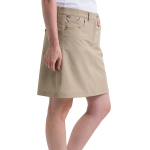 Nivo Women's Marika Shell Beige Golf Skort Model Side NI8210610