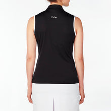 NI9210133 Nivo Women's Wynne Black Sleeveless Polo Shirt Product Image Back