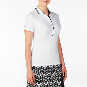 NI9210134 Nivo Women's Wesley White Polo Shirt Product Image Side