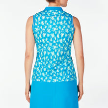 NI9210141 Nivo Women's Daisy Malibu Blue Sleeveless Polo Shirt Product Image Back