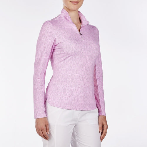 NI9210151 Nivo Women's Lisa Wild Orchid Liv Cool Midlayer Top Product Image Side