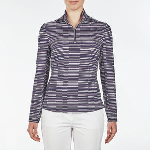 NI9210152 Nivo Women's Luann Navy Liv Cool Midlayer Top Product Image Front