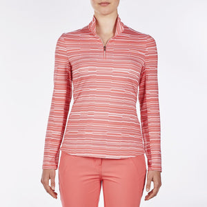 NI9210152 Nivo Women's Luann Sunkist Coral Liv Cool Midlayer Top Product Image Front