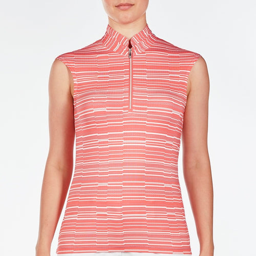 NI9210156 Nivo Women's Lulu Sunkist Coral Liv Cool Sleeveless Top Product Image Front