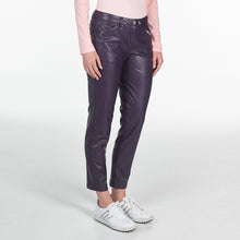 NI9210402 Nivo Ladies TILDA Purple Plum Leather Look Stretch Pant Product Image Side