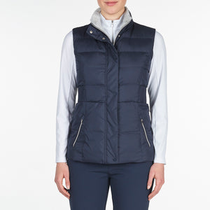 NI9210501 Nivo Ladies TABITHA Navy Wind Proof Quilted Gilet Product Image Front