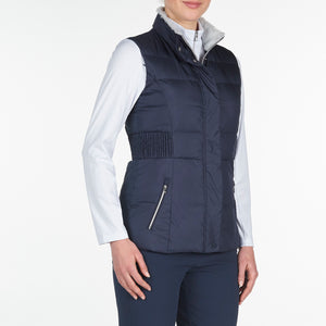 NI9210501 Nivo Ladies TABITHA Navy Wind Proof Quilted Gilet Product Image Side