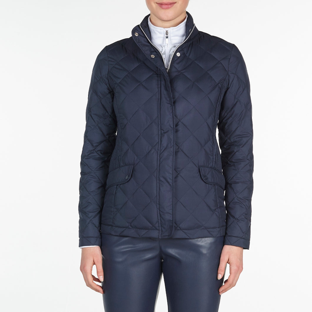 NI9210702 Nivo Ladies TOULA Navy Wind Proof Quilted Jacket Product Image Front