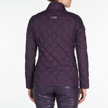 NI9210702 Nivo Ladies TOULA Purple Plum Wind Proof Quilted Jacket Product Image Back