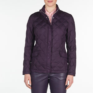NI9210702 Nivo Ladies TOULA Purple Plum Wind Proof Quilted Jacket Product Image Front