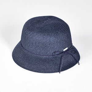 NI9210901 Nivo IVONNE Navy Straw Hat with Bow Product Image