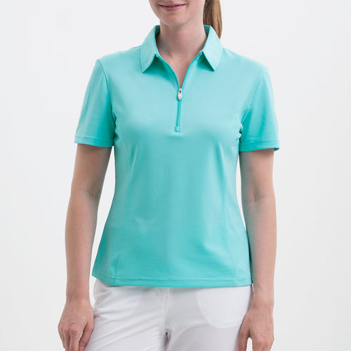 Nivo Women's Natasha Angel Blue Polo Shirt Product Image Front NI8210100