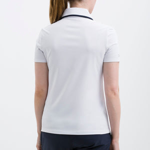Nivo Women's 'Heather' Polo Shirt in White at The Golf Outfit Model Image Back NI8210142