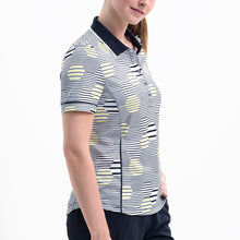 Nivo Women's 'Heidi' Polo Shirt in White & Navy at The Golf Outfit Model Image Side NI8210144
