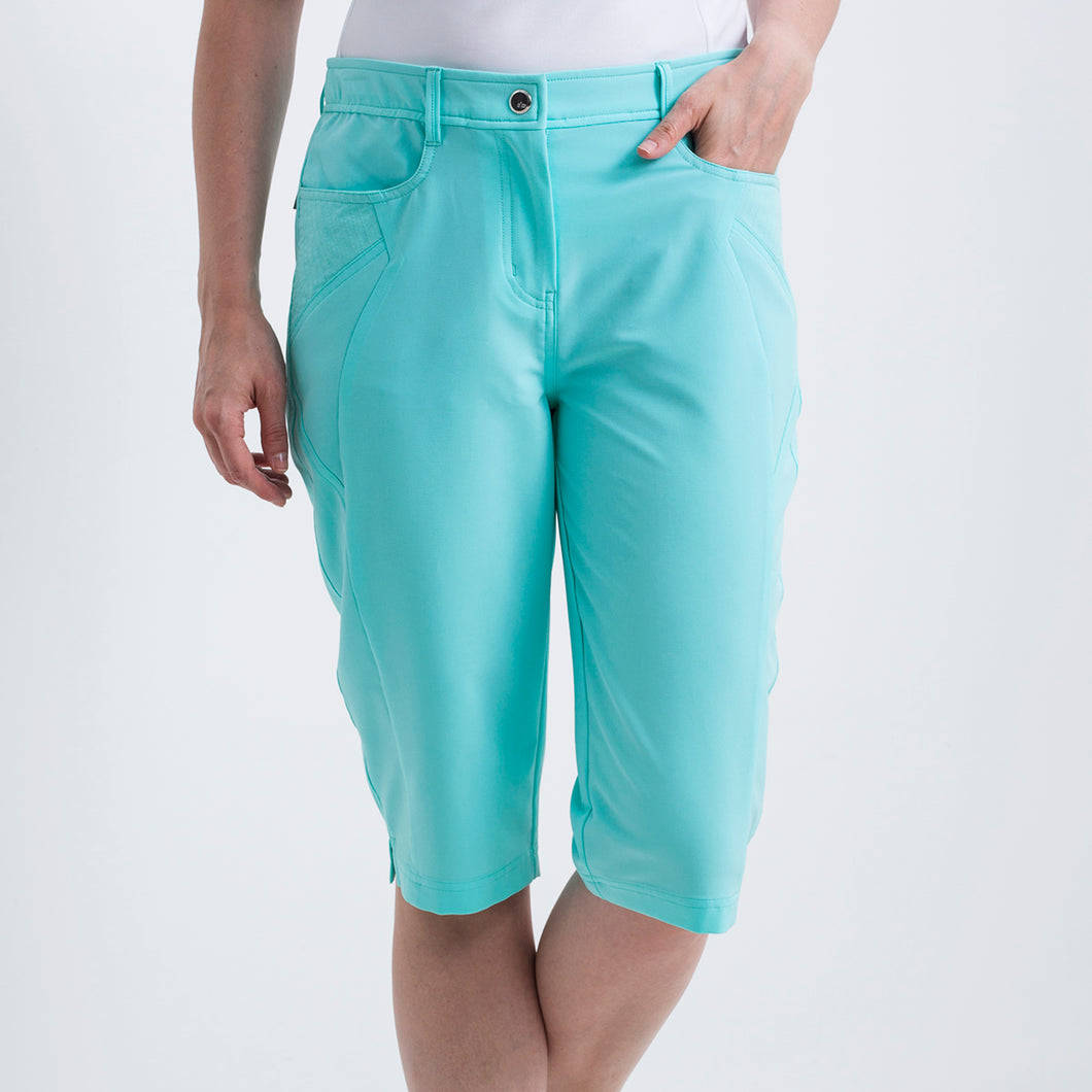 Nivo Women's Madison Bermuda Long Shorts in Angel Blue at The Golf Outfit Product Image Front NI8210410_476
