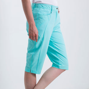 Nivo Women's Madison Bermuda Long Shorts in Angel Blue at The Golf Outfit Product Image Side NI8210410_476