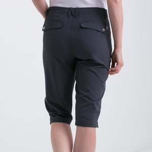 Nivo Women's Madison Bermuda Long Shorts in Charcoal at The Golf Outfit Product Image Back NI8210410