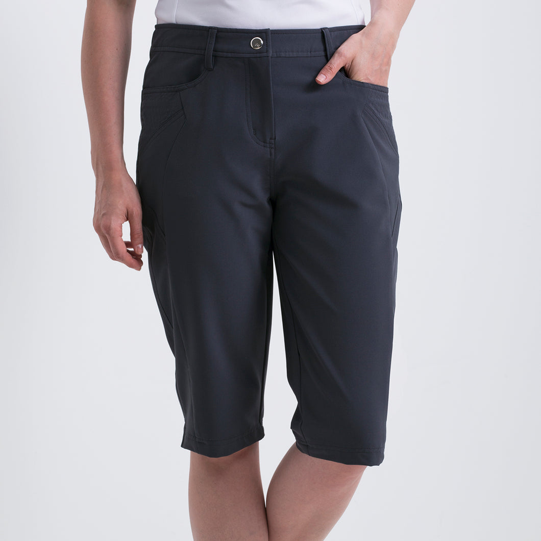 Nivo Women's Madison Bermuda Long Shorts in Charcoal at The Golf Outfit Product Image Front NI8210410