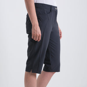 Nivo Women's Madison Bermuda Long Shorts in Charcoal at The Golf Outfit Product Image Side NI8210410