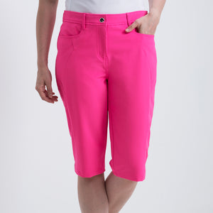 Nivo Women's Madison Bermuda Long Shorts in Energy Pink at The Golf Outfit Product Image Front NI8210410
