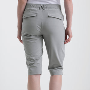 Nivo Women's Madison Bermuda Long Shorts in Light Grey at The Golf Outfit Product Image Back NI8210410_061